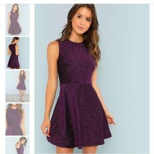 NEW Purple Glitter Dress Small